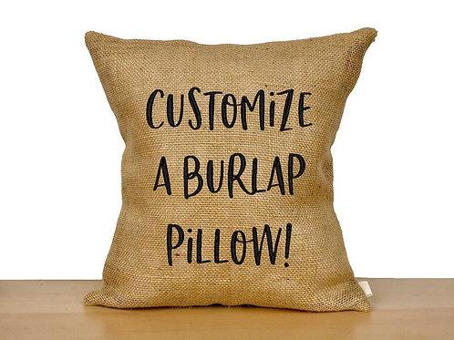Customized Burlap Pillow