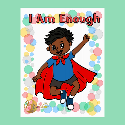 I Am Enough Coloring Book (Boys Edition)