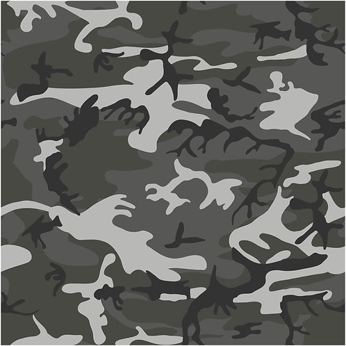 12 by 12 Grey Camouflage