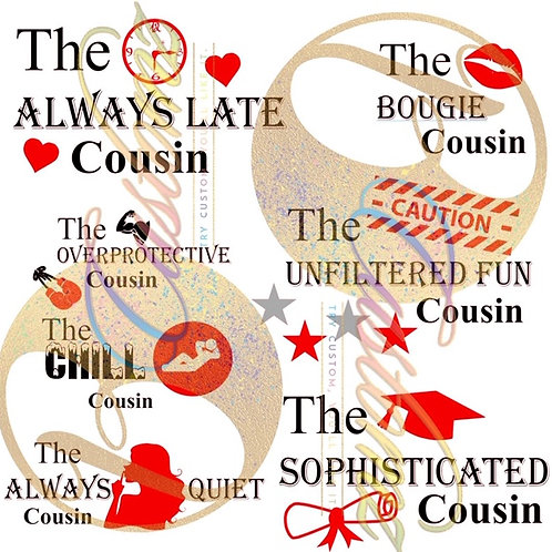 Friend and Cousin Titles SVGs