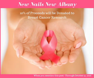 New Nails New Albany to donate 10% to Breast Cancer Research