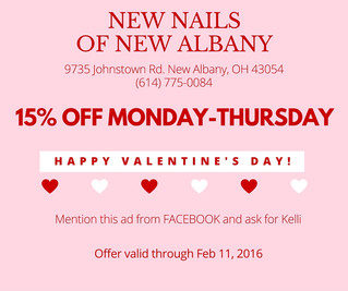 Treat yourself to New Nails for Valentine's Day!