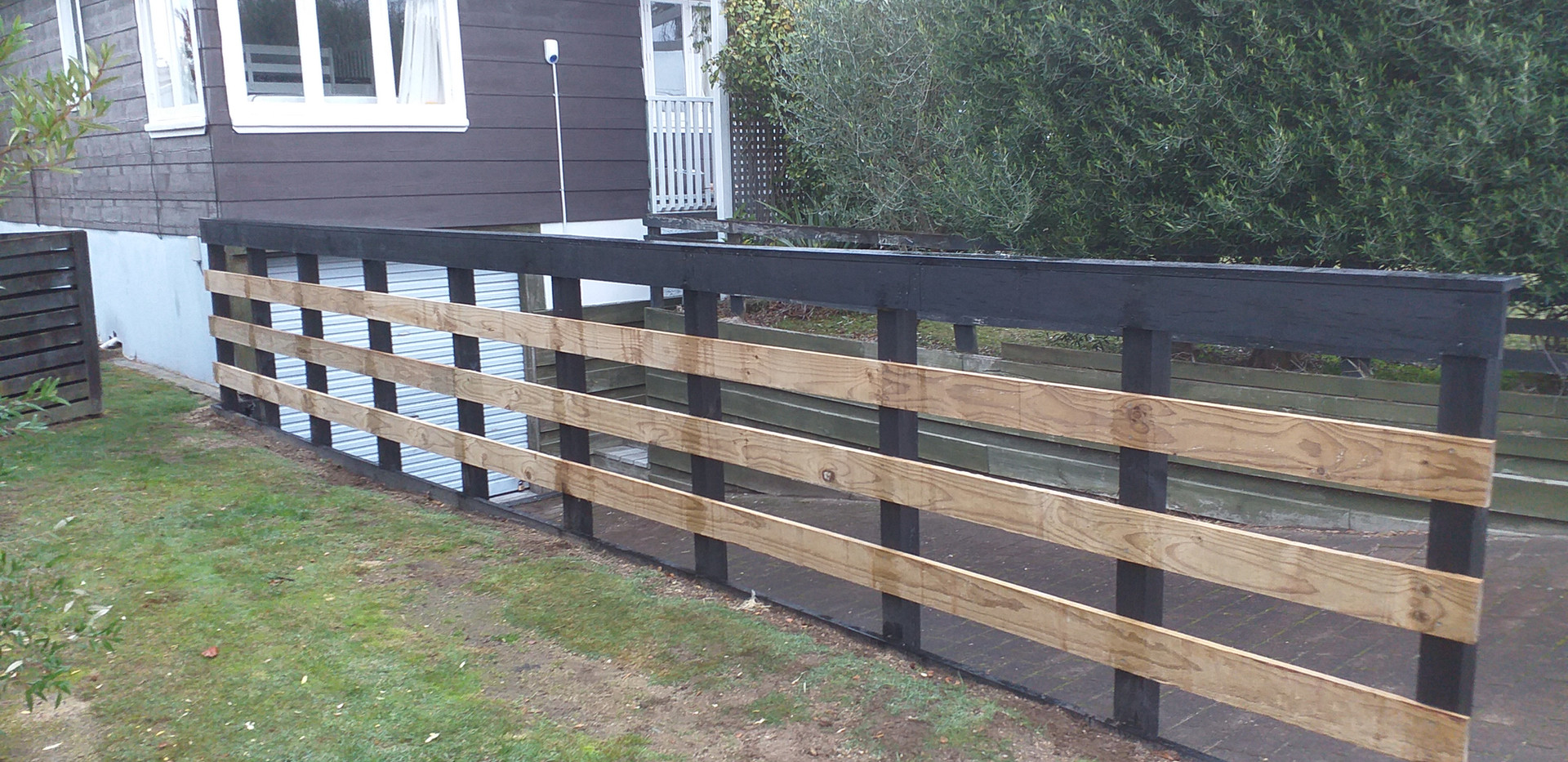 Fence prior to paint
