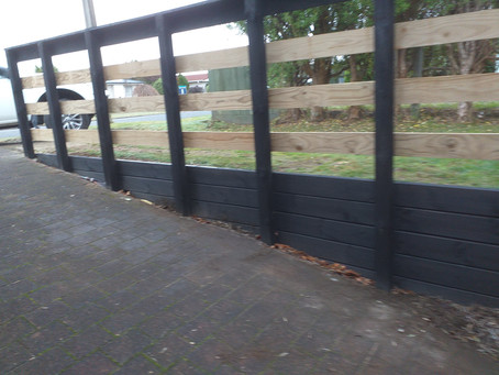Retaining and fencing the driveway on Taupo View Road