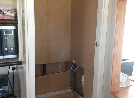 Before and after water cupboard!