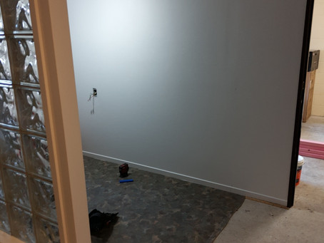 Building a partition wall in Taupo