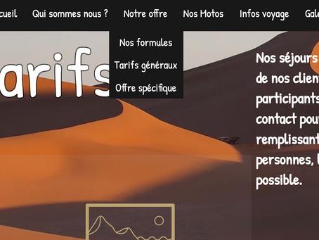 Nouveauté sur le site de Passions Moto Maroc