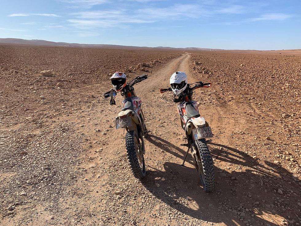 Balade moto desert marocain