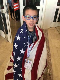 Brian with the American Flag