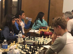 3 VC Chess Girls in Action!