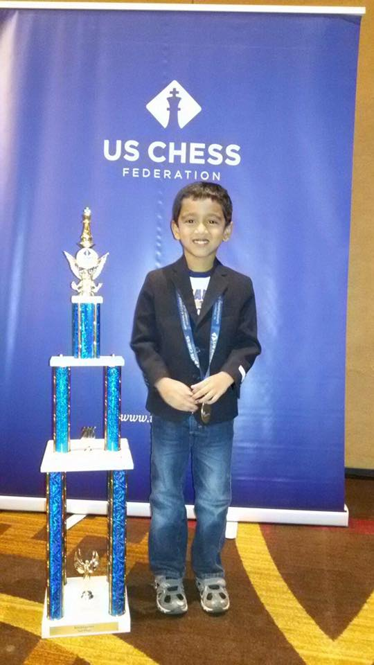 National Scholastic Chess: Dhruva finished as a co-champion in K section! Congratulations!