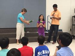 Grace receives trophy!