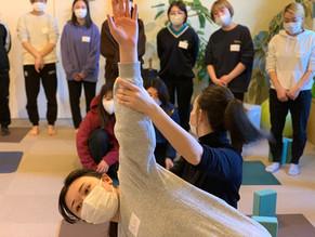feel yoga インストラクター養成講座に参加しています