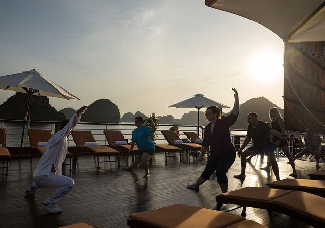 Join our onboard tai chi teacher as they take you through the basic steps.