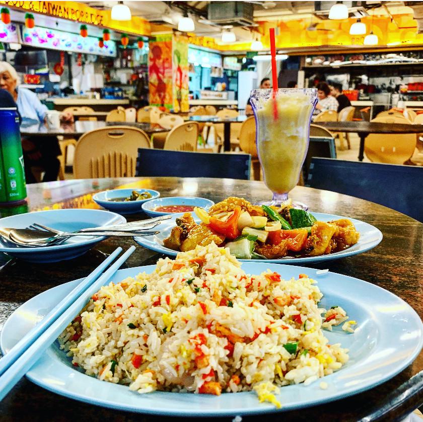 Sweet N Sour Fish & Shrimp Fried Rice