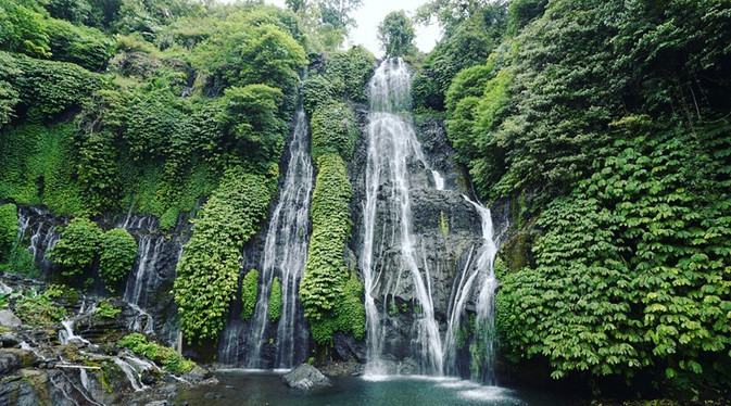 Follow our guide to the Banyumala Twin Waterfalls