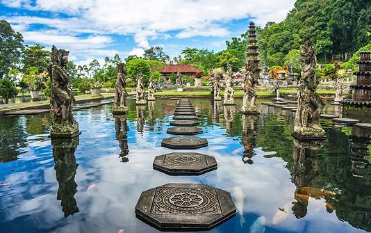  Tirta gangga is royal water palace king of Karangasem. You will enjoy the hill views,statues and hugekoi fish.