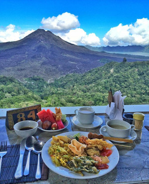 You'll enjoy the deliciousluncheon while enjoying the picturesque views of three mountains, Mount Batur, Mount Abang,Mount Agung and Lake Batur. We will take you to see the graceful Mount Batur and visit the Lava Rock Field, a witness of Mount Batur great eruption in early '20 century.