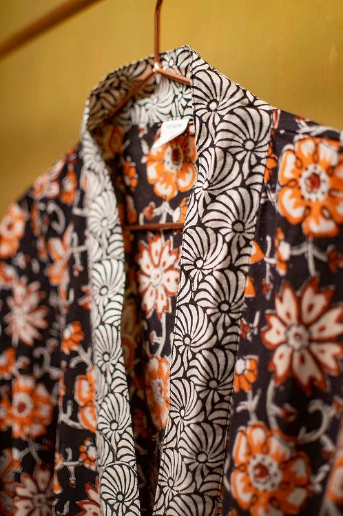 Kimono Orange flower
