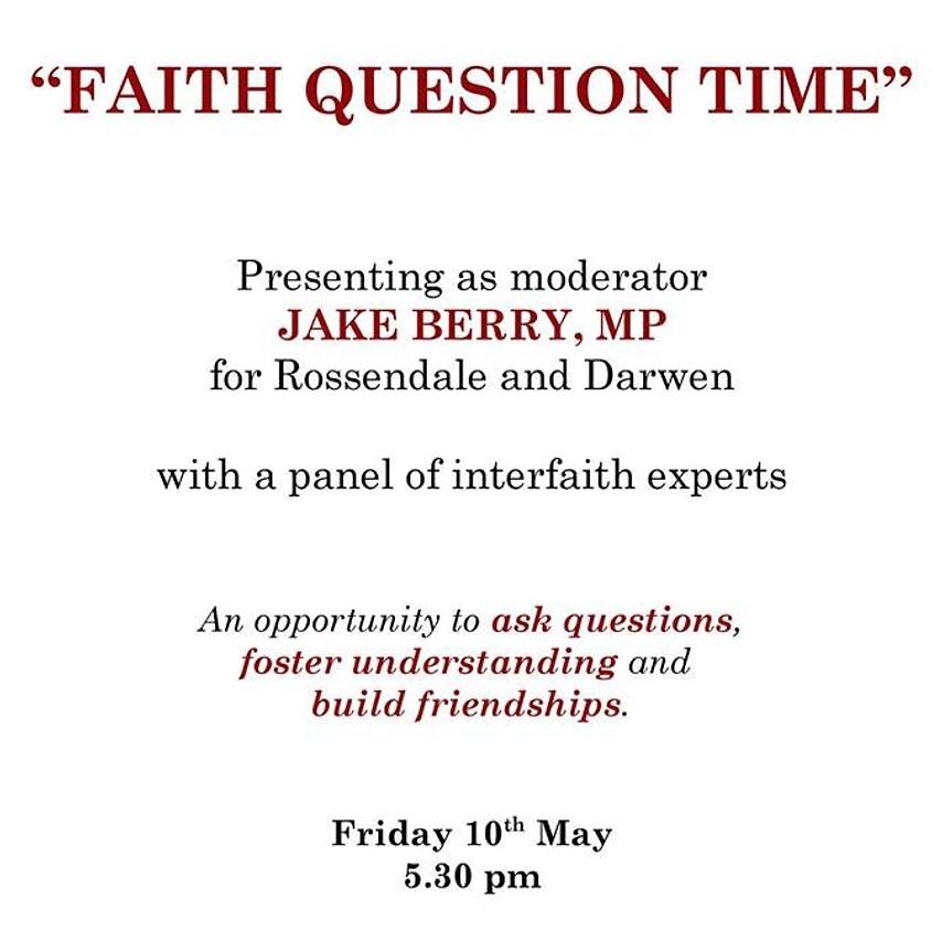 Faith Question Time