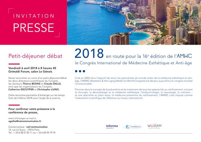 Invitation Presse - Petit déjeuner débat AMWC 2018 Monaco