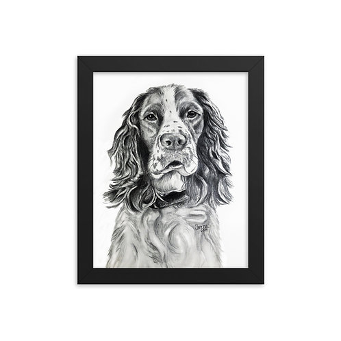 Dog Framed photo paper poster