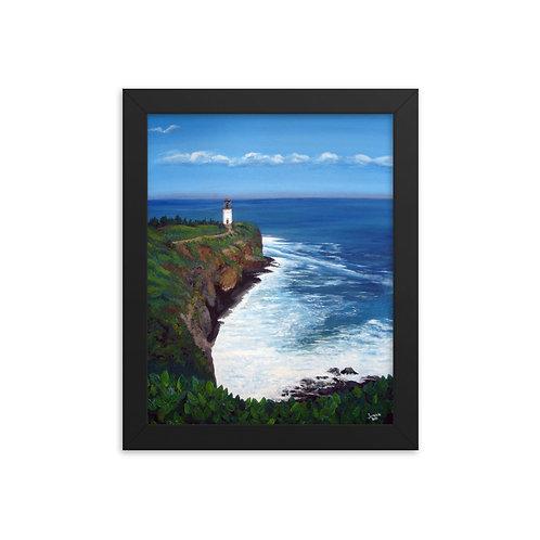 Lighthouse Ocean Framed photo paper poster