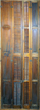 Victorian Paneled and  Shutters Door Set
