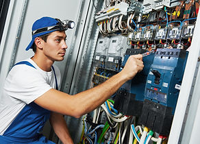 Young adult electrician builder engineer