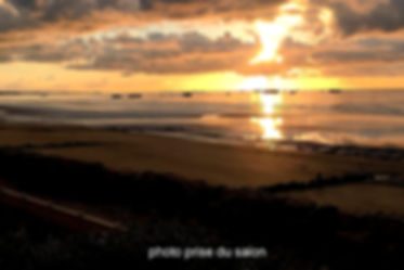 coucher de soleil sur les pontons d'Arro