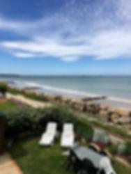 bain de soleil façade plage du débarquem
