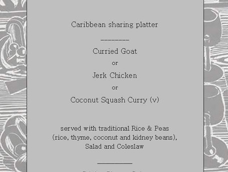 Caribbean Night Menu