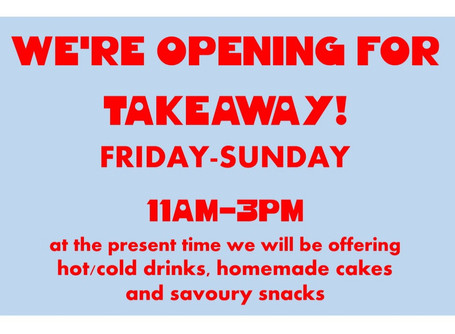 Opening for Takeaway