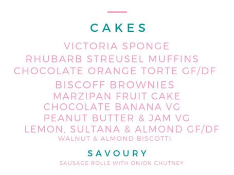 This weekend's menu...