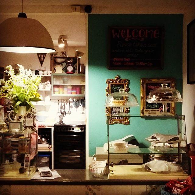 The Loft by night #tollesbury #essex #tearoom #teal