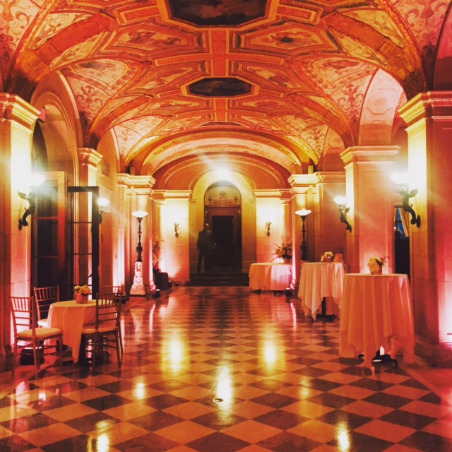 mansion uplighting