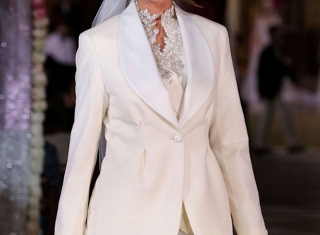 Bridal trends 2020: Blazers, puffy sleeves, florals and more