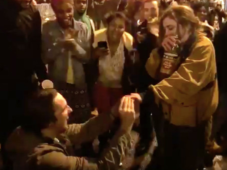 Philadelphia Eagles Fan Proposes on Broad Street After Super Bowl Victory