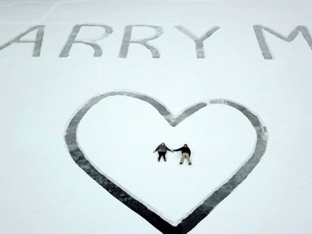 "Pilot Inscribes ""Marry Me"" on Frozen Lake—And Proposes From Above"