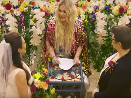 "Kesha Officiates a Same-Sex Wedding in Her ""I Need a Woman to Love Me"" Music Video"