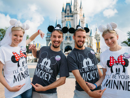 Identical Twin Couples Celebrate Their Honeymoon at Disney World