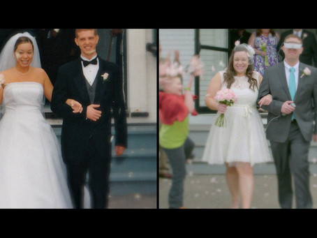Legally Blind Man Finally Sees His Wife For the First Time at Their Second Wedding