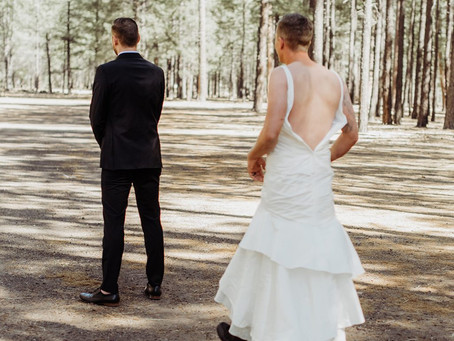 Bride Sends Her Brother Out in a Wedding Dress for the First Look: See the Groom's Reaction