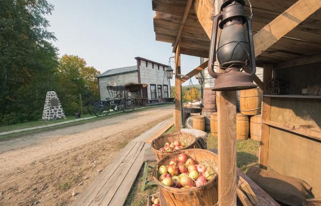 L'appentis vendeur de pomme