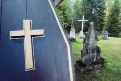 Le cimetière du village Canadiana
