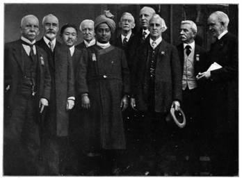 DELEGADOS DO CONGRESSO INTERNACIONAL DE RELIGIÕES, BOSTON, EUA, 1920.
