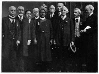 DELEGADOS DO CONGRESSO INTERNACIONAL DE RELIGIÕES, BOSTON, EUA, 1920.