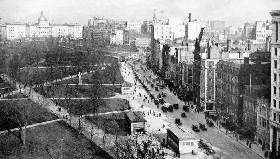 CIDADE DE BOSTON (EUA), EM 1921.