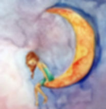 #babichart #luna #watercolor_