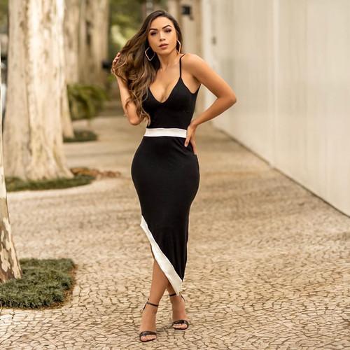 Vestido Preto-Branco R$40,00 Fornecedor